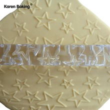 Different Size Five Star Shape Rolling Pin Decor Does Not Touch The Flattening Rod Side Stick--A163
