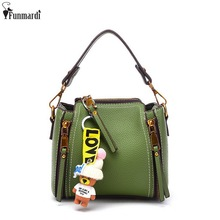 FUNMARDI New High Quality Women Totes Trendy Handbags With Bears Classic Star Style Shoulder Bag Famous Brand Handbags WLAM0085
