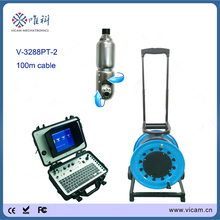 Vicam Pipe camera factory Visual Inspection Camera with 360 Pan/180 Tilt camera ,built-in 128G SSD hard disk 80m cable(China)