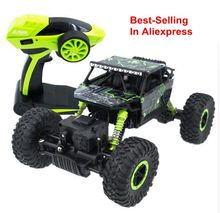 Hot 2.4G 4CH 4WD Rock Crawlers 4x4 Driving Speed Double Motors Drive Bigfoot Remote Control Train Model Off-Road Vehicle Toy(China)