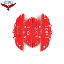KUNBABY Red ABS Universal Car Auto 3D Word Style Disc Brake Caliper Covers Front And Rear Size M+S For Wheel 17'' And Under