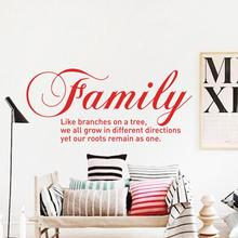 Art Design Family like brandches on a tree Vinyl Wall decals Quotes Creative Character stickers removable words home decor kids
