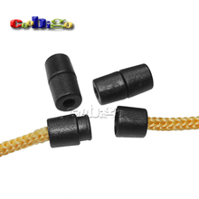 25pcs Pack Black Plastic Buckles Breakaway Safety Pop Barrel Connector Clasp Necklace Paracord&Ribbon Lanyards#FLC090-B