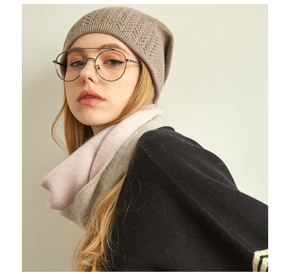 قبعة صوف محبوكة للنساء 6