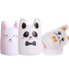Nail Art Stamper Cute Rabbit Panda Cat Design 3.5cm Silicone Head with BORN PRETTY Scrapers Manicure Nail Stamping Tool Set