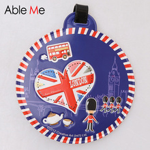 London Soldier Flag Printing Luggage Tag Cartoon Gifts Travel Souvenir Suitcase and Backpack Sort Label Travel Accessories