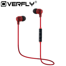 Overfly Wireless Bluetooth Earphones Sport Running Headphones Stereo Super Bass Headset Earbuds Handsfree With Mic