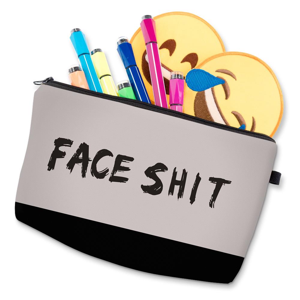 """I Like My Eyelashes"" Printed Makeup Bag Organizer 25"