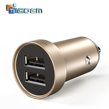 TIEGEM Dual USB Car Charger adapter 3.4A Mobile Phone Car-charger for iPhone 7 Samsung Xiaomi Car Phone Charger Accessories(China)