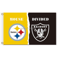 Pittsburgh Steelers Flag Vs Oakland Raiders Banner World Series Football Team 3ft X 5ft Steelers And Raiders Banner Flag(China)