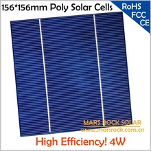 20pcs/Lot Excellent 4W 156mm Polycrystalline Solar Cell,17% High Efficiency, Buy PV Cells Get Free PV Ribbon for DIY Solar Panel(China)