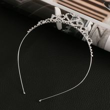 1PCS Women Girls Hairpin Princess Crown Silver Crystal Hair Hoop Jewelry Diamond Tiara Headband