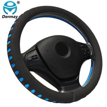 DERMAY EVA Punching Red car steering wheel cover 38CM Universal Auto steering wheel covers Car Interior Accessories(China)