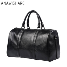 ANAWISHARE Men Leather Handbags Large Travel Totes Bags Business Handbags Crossbody Shoulder Bags Computer Laptop Bag Ko9