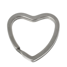 10PCs Silver Tone Valentine Heart Split Rings Key Rings HOT sale New Arrival High Quality Fine Jewelry Accessories For Women Men