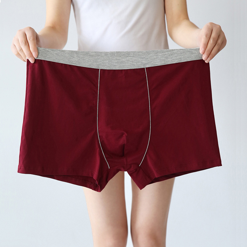 Boxers Men Panties Underwear Fat-Belts Loose Breathable Large Plus-Size Cotton 5XL Male title=