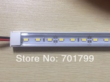 1m long 5630 led rigid bar light;U type,with transparent PC cover;DC12V input;60leds per meter;30W(China)