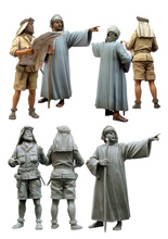 [tuskmodel] 1 35 scale resin figures kits officer SAS and local man