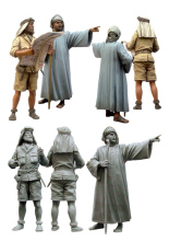 [tuskmodel] 1 35 scale resin figures kits officer SAS and local man(China)
