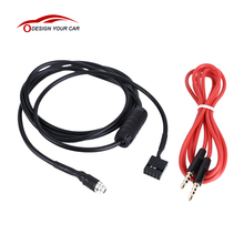 KKmoon Car Style 3.5mm AUX Input Mode Cable Female Dash Mountable Socket for BMW E46 98-06 Aux-in Audio Adapter Cable for Phone(China)