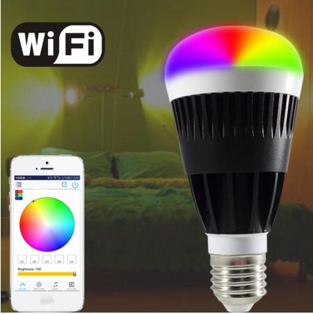 2017 CE,RoHS Approved 10W B22 E27 RGBW WIFI LED Bulb Smart Bluetooth led bulb 800 lumen<br><br>Aliexpress