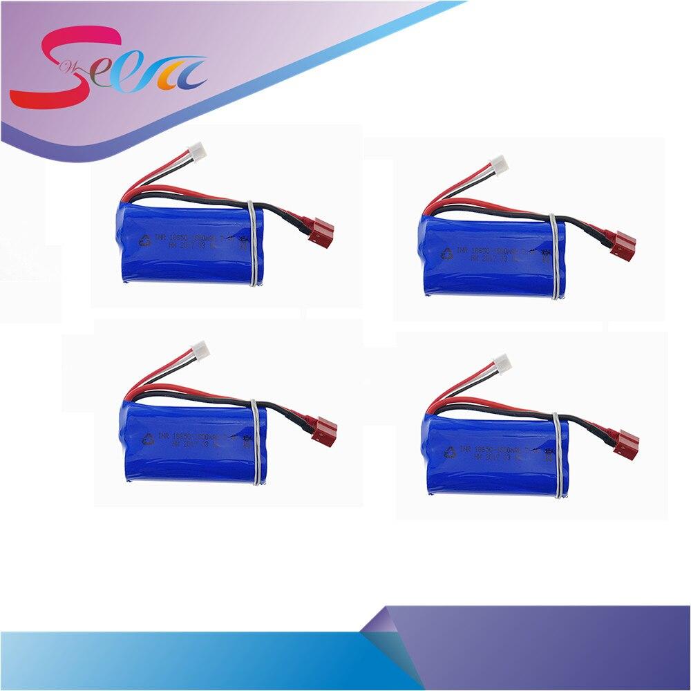 4pcs Free shipping 7.4V 1500mAh Lipo Battery wltoys 12423 wltoys 12428 rc car For Wltoys 12423 12428 4WD Crawler RC Car<br>