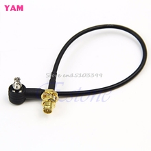 TS9 Plug to RP-SMA Female Pigtail Black Connector Adapter Cable New #G205M# Best Quality