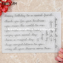 Happy Birthday To A Special Friend Scrapbook DIY Photo Cards Rubber Stamp Clear Transparent 11x16cm KW8050428