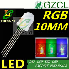 Common anode RGB 10mm led bulb Round Tri-color light diode R1.8-2.2V GB 3.0-3.5V(China)