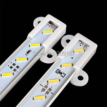 50CM 8520 SMD 36 LED Aluminum Alloy Shell Strip Hard Cabinet Bar Light Warm White free shipping