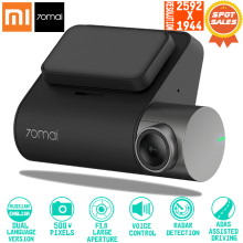 Original 70mai Dash 캠 Pro smart 차 1944 P HD 영상수록 와 GPS WIFI Function 140 FOV 카메라 영어 voice Control(China)