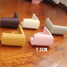 4Pcs/lot  75mm*75mm Soft Baby Safe Corner Protect Baby Kids Table Desk Corner Guard Children Safety Edge Guards