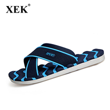 Men's Slippers Summer Non-slip Massage Slippers Fashion Man Casual Plus Size High quality Soft Beach Shoes Flat Flip Flops XC19(China)