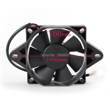 Dirt Bike Motorcycle ATV Quad Buggy Oil Cooler Water Cooler 160mm Radiator Electric Cooling Fan(China)