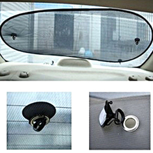 1X Black Gauze Block 100 X 50 cm Car Sunshade Prevent Sun Back Window Shade Profile Mesh Visor Shield Screen Solar UV Protection