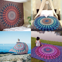 Hot New Indian Mandala Tapestry Hippie Home Decor Wall Hanging Boho Beach Throw Towel Yoga Mat Bedspread Table Cloth 210*148CM(China)