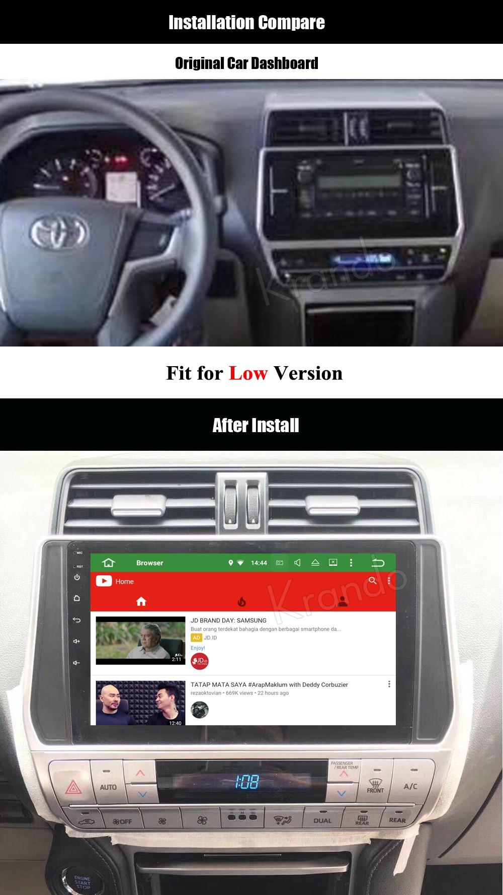 krando android car radio audio player for toyota prado 2018 multimedia navigation system (2)