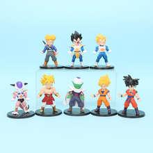 8pcs Dragon Ball Z GT Figures Super Saiyan Son Goku Trunks Vegeta Piccolo Broly PVC Figure PVC Action Figure Doll Model Toy Gift