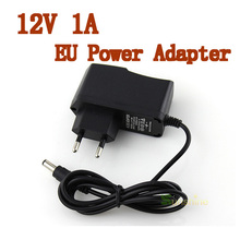 Good Quality 5.5mm x 2.1mm DC 12V 1A EU Plug Power Supply Adapter For CCTV Camera