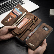 Luxury Brand For Samsung Galaxy S8 S7 Case Genuine Leather Flip Cover For Samsung S 8 Plus S 7 Edge Magnetic Wallet Phone Bags(China)