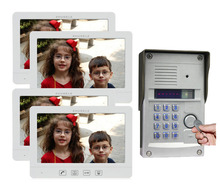 "Home Security Intercom System Kits 4X10.1""Display Scree Video Door Phone + 1XMetal CCD Camera With FRID Panel,Support IP Camera"