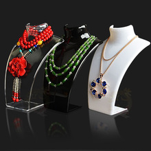 New and Hot Sale Three Colors 20*13.5*6cm Mannequin Necklace Jewelry Pendant Display Stand Holder Show Decorate Retail