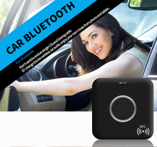 Car Kit Bluetooth 4.1 3.5mm Stereo Audio CSR NFC Music Receiver Adapter Auto AUX A2DP Adapter HandsFree for iPhone Pad Android(China)
