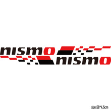 1 Pair Customization NISMO Car Door Stickers decal Car-Styling For Nissan qashqai juke almera x-trail tiida car accessories