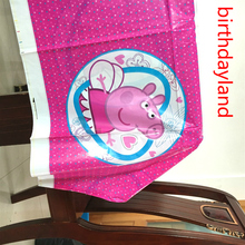 108cm*180cm Lovely Pink pig theme tablecloth Table cover for kids girls birthday party decoration