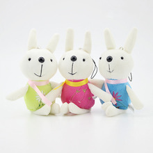 (3 pieces/lot) cute and pretty a variety of color smile rabbit plush toys Wedding decorations birthday present(China)
