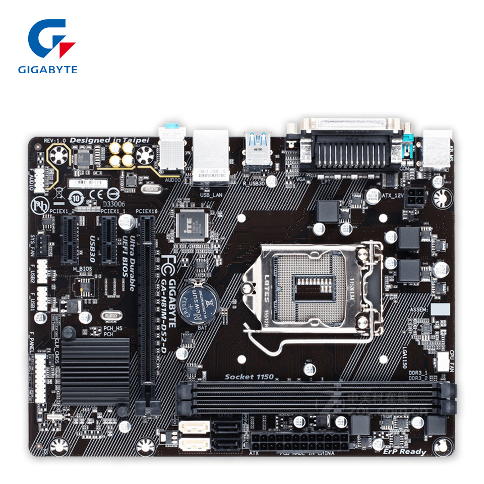 New asus h81m k motherboard cpu i3 i5 i7 lga1150 intel h81 ddr3 sata3 - Gigabyte Ga H81m Ds2 D Original Used Desktop Motherboard H81m Ds2