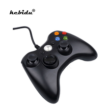 kebidu Original Genuine USB Wired Joypad Gamepad Black white Controller For XBOX 360 Controle for PC Microsoft Windows 7 8(China)