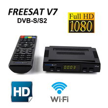 Freesat V7 Satellite TV Receiver Receptor satellite Decoder+USB WIFI HD 1080p BISS Key Powervu satellite receiver Adapter