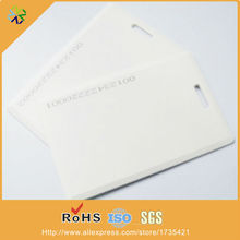 500pcs/lot both side printing with hole punched plastic tags